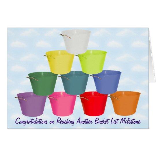 Bucket List Milestone Card