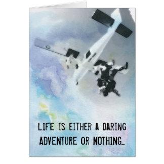 Bucket List: Skydiving Card