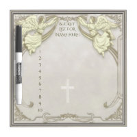 Bucket List with Angels Dry Erase Board