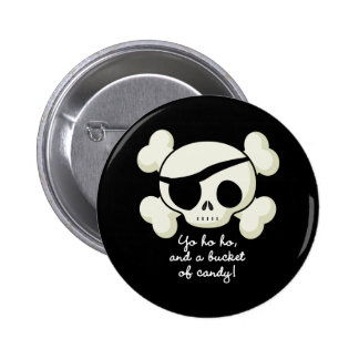 Bucket of Candy Pirate Button