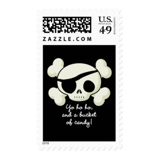 Bucket of Candy Pirate Stamps
