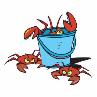 bucket of crabs standing photo sculpture