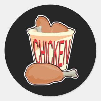 bucket of fried chicken round sticker