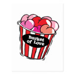 bucket of love png post cards