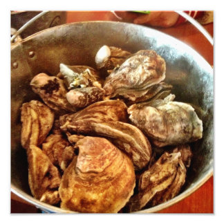 Bucket Of Oysters Photo Print