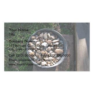 Bucket of stones business card