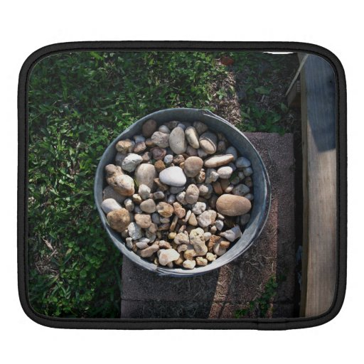 Bucket of stones sleeve for iPads