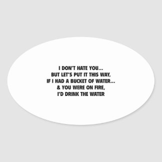Bucket Of Water Oval Sticker