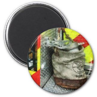Bucket on Fire Truck 2 Inch Round Magnet