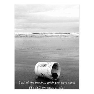 Bucket on the Beach Postcard