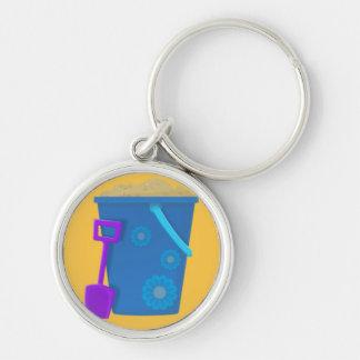 Bucket with Purple Spade Keychain