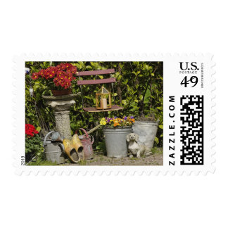 Buckets, shoes, and flowers, Zaanse Schans, Stamp