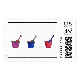 Buckets & Shovels Custom Postage