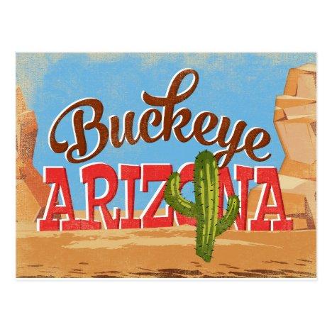 Buckeye Arizona Vintage Travel Postcard