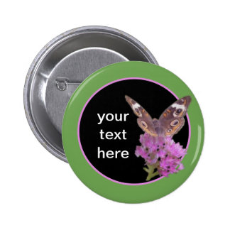 Buckeye Butterfly/ Customizable 2 Inch Round Button