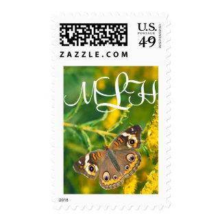 Buckeye Butterfly - Monogram Postage