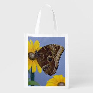 Buckeye Butterfly on Yellow Daisy Grocery Bag