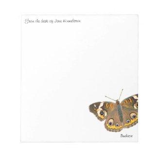 Buckeye butterfly photo notepads