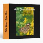 Buckeye Butterfly Vinyl Binder