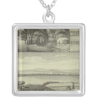 Buckeye Farm, Chase County, Kansas Silver Plated Necklace