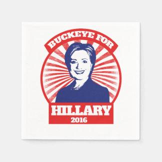 Buckeye for hillary clinton 2016 napkin