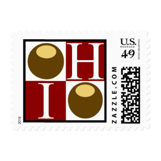 Buckeye Nut Ohio Postage Stamp