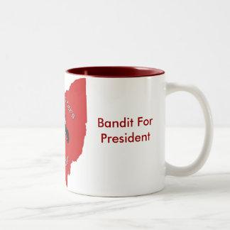 Buckeye Riders, Bandit For President Two-Tone Coffee Mug