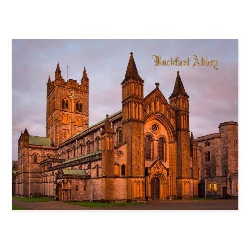 Buckfast Abbey at Sunset Postcard