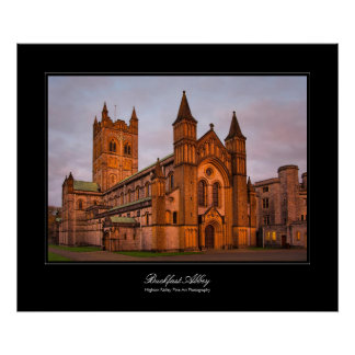 Buckfast Abbey gallery-style poster print
