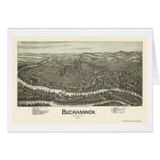 Buckhannon, WV Panoramic Map - 1900 Card