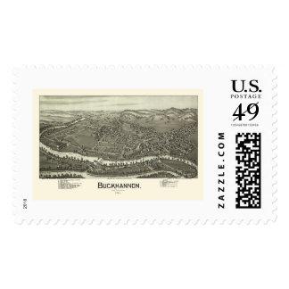 Buckhannon, WV Panoramic Map - 1900 Postage