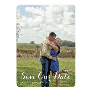 Buckin' Sweet | Chocolate & Pink SAVE THE DATE 5x7 Paper Invitation Card