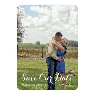 Buckin' Sweet | Gray & Deep Pink SAVE THE DATE 5x7 Paper Invitation Card