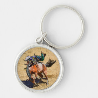 Bucking Bareback Bronco and Rodeo Cowboy #Gift Keychain
