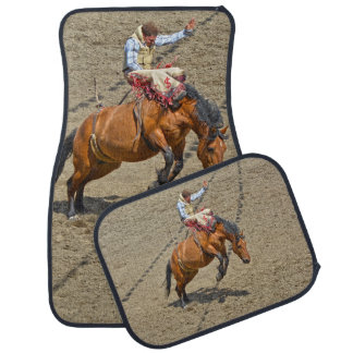 Bucking Bronco and Rodeo Cowboy Auto Mats
