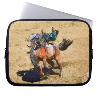 Bucking Bronco and Rodeo Cowboy #Gift Laptop Sleeve