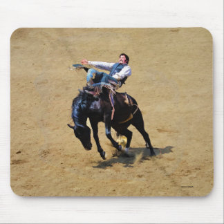 Bucking Bronco and Rodeo Cowboy #Gift Mouse Pad