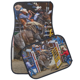 Bucking Bronco Breaking Out at Rodeo Auto Mats