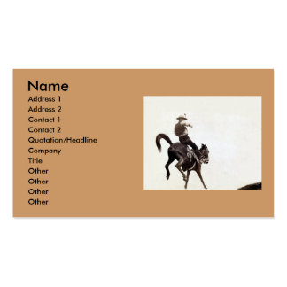 Bucking Bronco Double-Sided Standard Business Cards (Pack Of 100)