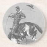 Bucking Bronco by Remington, Vintage Rodeo Cowboys Drink Coaster