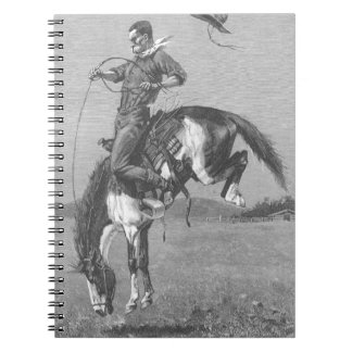Bucking Bronco by Remington Vintage Rodeo Cowboys Spiral Notebooks