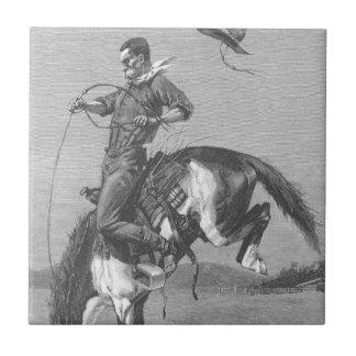 Bucking Bronco by Remington Vintage Rodeo Cowboys Tiles