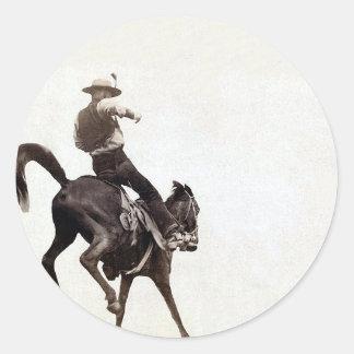 Bucking Bronco Classic Round Sticker