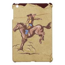 Bucking bronco cowboy ipad mini case