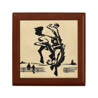 Bucking Bronco Horse and Rider Jewelry Box