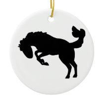 Bucking Bronco Horse. Ceramic Ornament
