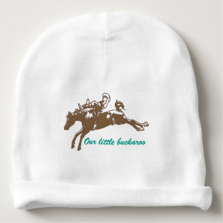 Bucking Bronco Personalized Baby Beanie