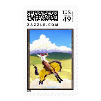 Bucking Bronco Postage Stamp