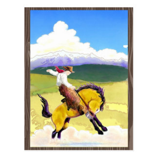 Bucking Bronco Postcard