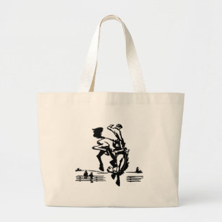 Bucking Bronco Rider Large Tote Bag
